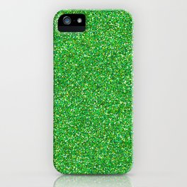 Shiny Glitter, Sparkling Glitter Glow - Green iPhone Case