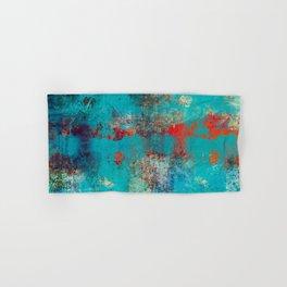 Aztec Turquoise Stone Abstract Texture Design Art Hand & Bath Towel