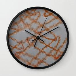 Orange Frizz Wall Clock