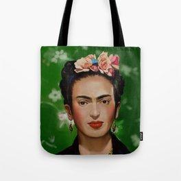 Frida Kahlo Print Tote Bag