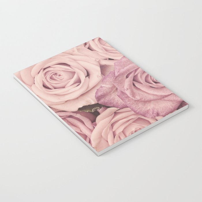 Some People Grumble - Pink Rose Pattern- Roses Notebook