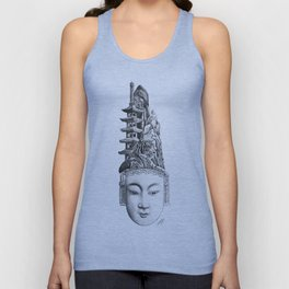 Chinese Mask Unisex Tank Top