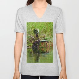 Seaweed Covered Chair Unisex V-Neck