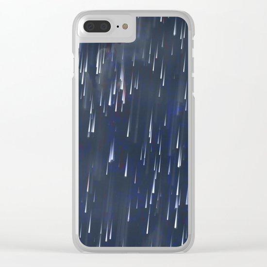 Raining Blue Clear iPhone Case