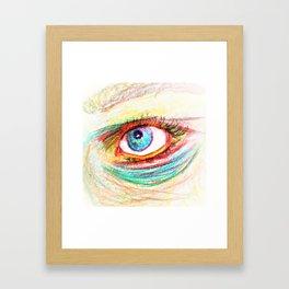 Rainbow Gaze Framed Art Print