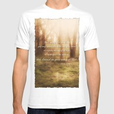 Forrest MEDIUM White Mens Fitted Tee