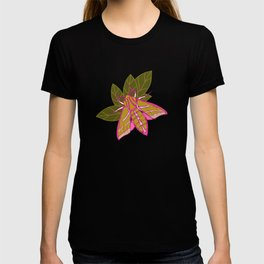 Nature moth - elephant hawk moth with leaves T-shirt