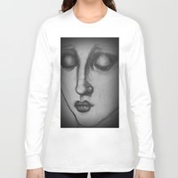madonna Long Sleeve T-shirts featuring The Madonna by Sarah Mary Street