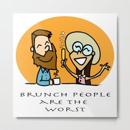 BRUNCH PEOPLE Metal Print