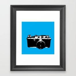 Leica in Blue Framed Art Print