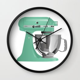 Jade KitchenAid Stand Mixer Wall Clock