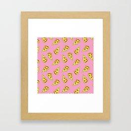 Pizza Pattern By Everett Co Framed Art Print