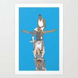 Spurs Totem Art Print