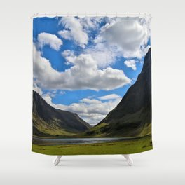 Highland Blue and Green Shower Curtain