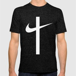 Swoosh Cross (... And Deliver Us From Evil) / White T-shirt