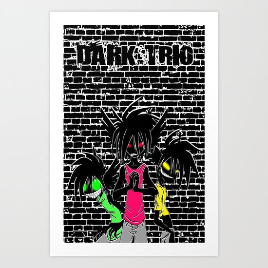 Dark Trio Art Print