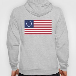 Betsy Ross flag - Authentic color and scale Hoody