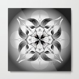 Mandala ~ Year of the Goat (black & white) Metal Print