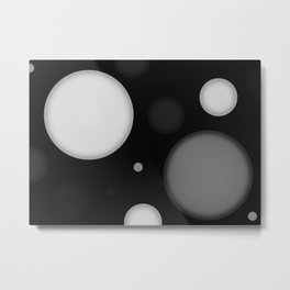 Black Space Metal Print