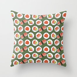 Sushi set Throw Pillow