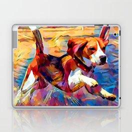 Beach Beagle Laptop & iPad Skin