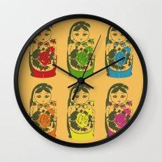 matryoshka dolls Wall Clock