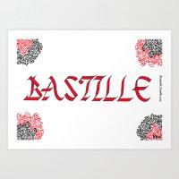 bastille Art Prints featuring bastille by Revital Krispin