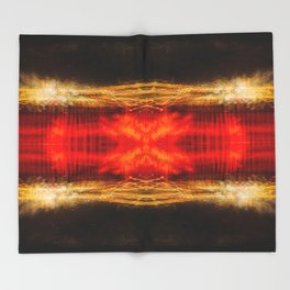 Sedona lights geometry II Throw Blanket