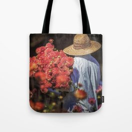 Picking the Flowers Tote Bag