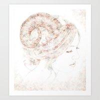 capricorn Art Prints featuring Capricorn by Ellen Macintyre