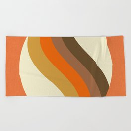 Orange Oval Beach Towel