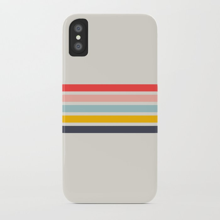 Naomori - Classic Minimal Retro Stripes iPhone Case