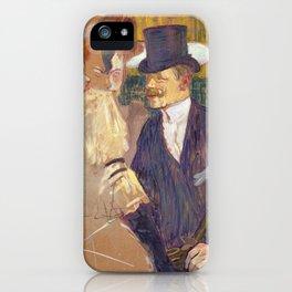 The Englishman, Henri de Toulouse Lautrec, 1892 iPhone Case