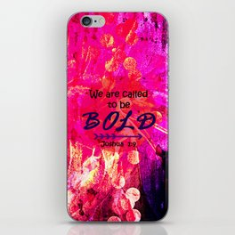 CALLED TO BE BOLD Floral Abstract Christian Typography Scripture Jesus God Hot Pink Purple Fuchsia iPhone Skin
