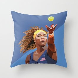 American Tennis Champion Throw Pillow