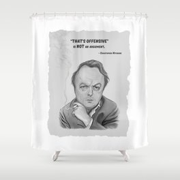 Christopher Hitchens Shower Curtain