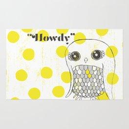 Howdy, Owly Rug