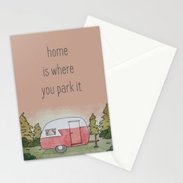 Home is Where You Park It Stationery Cards