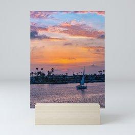 Home Port at Sunset Mini Art Print