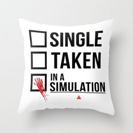 Relationship Status - Person of interest - Sameen Shaw Throw Pillow