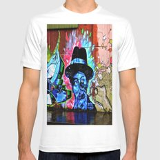 The Bluesman of Belfast White MEDIUM Mens Fitted Tee