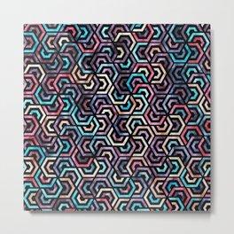 Seamless Colorful Geometric Pattern XXII Metal Print