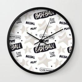 Baseball Go! Wall Clock