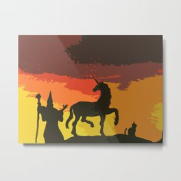 And a Cat Shall Lead Them Metal Print