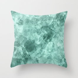 crystal blue.1 Throw Pillow