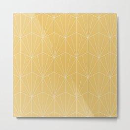 Gisela Geometric Line Pattern - Golden Metal Print