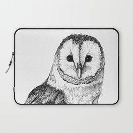 Barn Owl - Drawing In Black Pen Laptop Sleeve