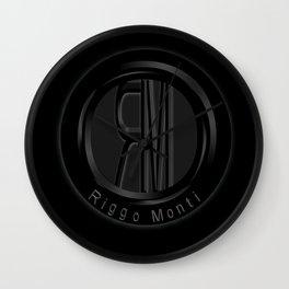 Riggo Monti Design #1 - Riggo Emblem (Blk. Bkgrnd.) Wall Clock