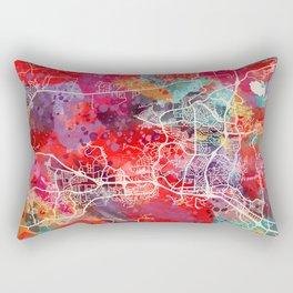 Thousand Oaks map California painting 2 Rectangular Pillow