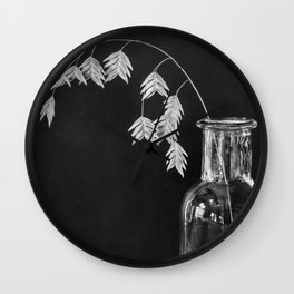 glass and nature Wall Clock